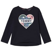 Tommy Hilfiger Navy Heart Branded Tee 002