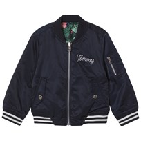 Tommy Hilfiger Navy Reversible into Floral Bomber Jacket 431