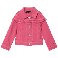 Tommy Hilfiger Pink Ruffle Denim Jacket 601