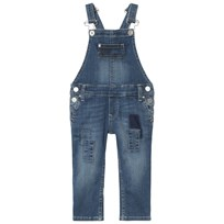 Tommy Hilfiger Mid Wash Patch Denim Overalls 911