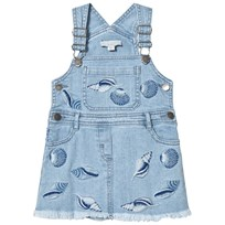 Stella McCartney Kids Blue Sunflower Shells Overall Dress 4160