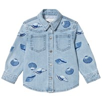 Stella McCartney Kids Blue Denim Shell Embroidered Jules Shirt-Jacket 4160