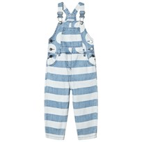Stella McCartney Kids Prickiga Randiga Denim Ruthie Hängselbyxor Blå 4266
