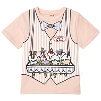 Stella McCartney Kids Peach Ice Cream Seller Arlow Tee 5768