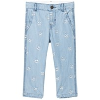 Stella McCartney Kids Skull Embroidered Leonard Jeans 4160