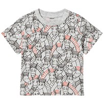 Stella McCartney Kids Grey All Over Donkey Print Chuckle Tee 1766