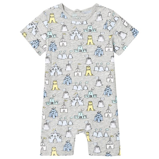 Stella McCartney Kids Grey Sandcastle Print Kit Jersey Romper 1763
