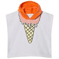 Stella McCartney Kids Purple Ice Cream Print Bobo Hooded Towel 5351