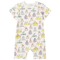 Stella McCartney Kids Sandcastle Print Kit Jersey Romper Gräddvit 2164