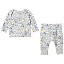 Stella McCartney Kids Grey All Over Print Buster Jersey Set 1763