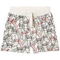 Stella McCartney Kids Cream Donkey All Over Print Cookie Shorts 9794