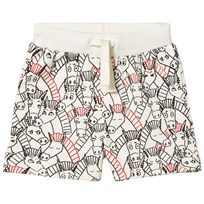 Stella McCartney Kids Donkey All Over Print Cookie Shorts Gräddvit 9794