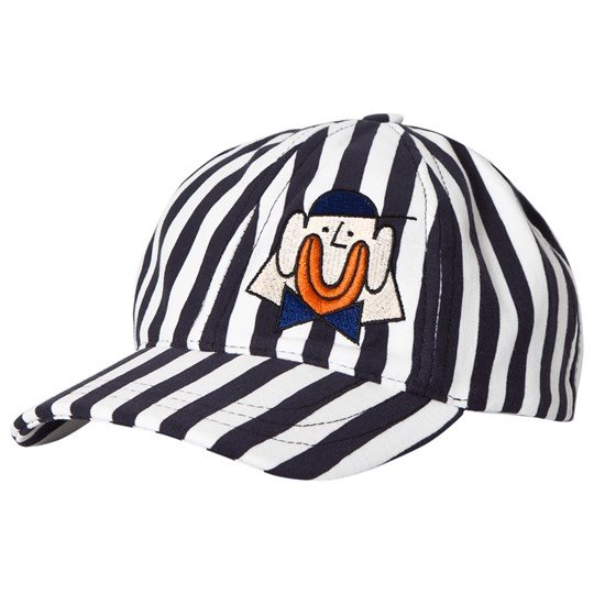 Wynken Clown Cap Navy/White Stripe