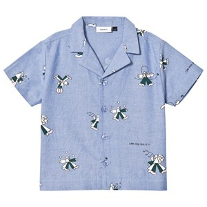 Image of Wynken Blue Clown Print Camp Collar Shirt 8-9 years (2930706467)