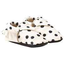 Mini Mocks Pippi´s Pony Moccasin White/Black dots