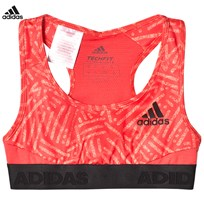 adidas Performance Coral Girls Sports Training Bra CHALK CORAL S18/REAL CORAL S18
