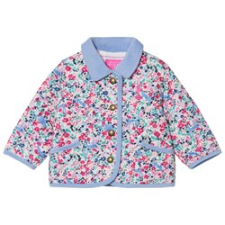 Joules Floral Printed Quilted Jacket