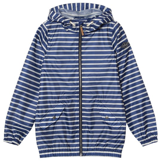 Tom Joule Blue Stripe Branded Waterproof Jacket Blue Stripe