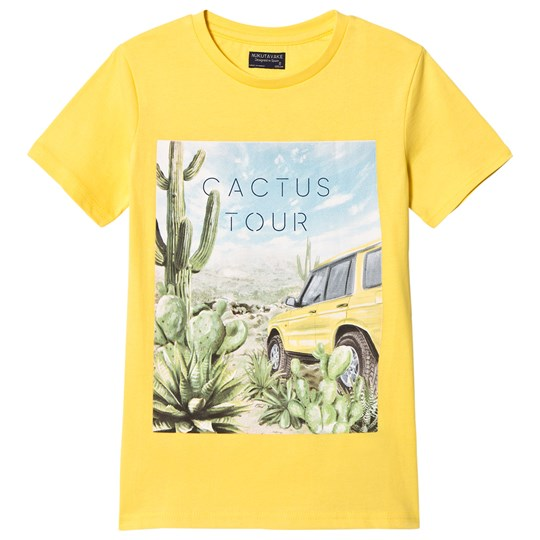 Mayoral Car and Cactus Graphic Print T-shirt Gul 32