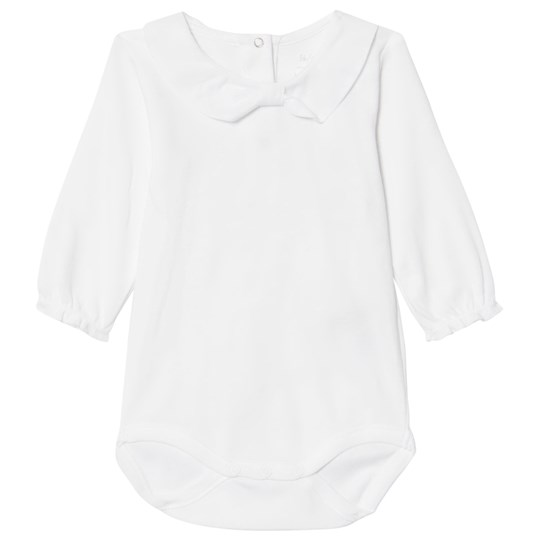 Noa Noa Miniature Long Sleeve Baby Body with a Bow White White