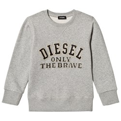 Diesel Grey Embroidered Logo Sweatshirt