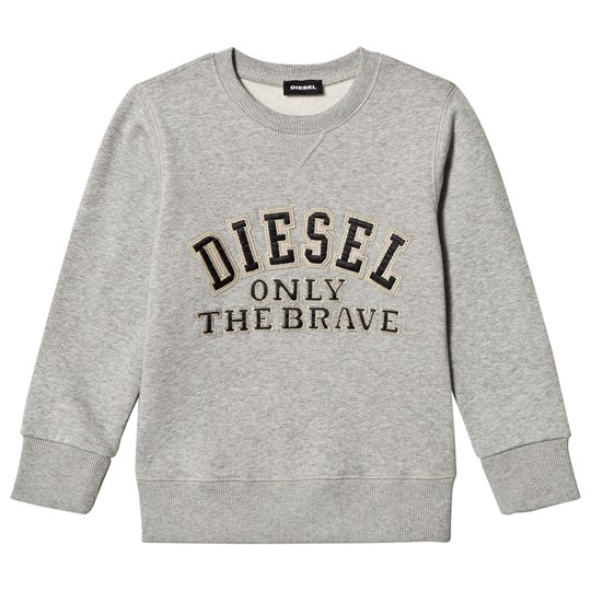 Diesel Grey Embroidered Logo Sweatshirt 912