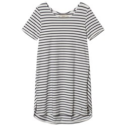 Emma och Malena Maternity Jane Stripe Dress Off White/Navy