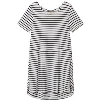 Emma och Malena Maternity Jane Stripe Dress Off White/Navy Stripe