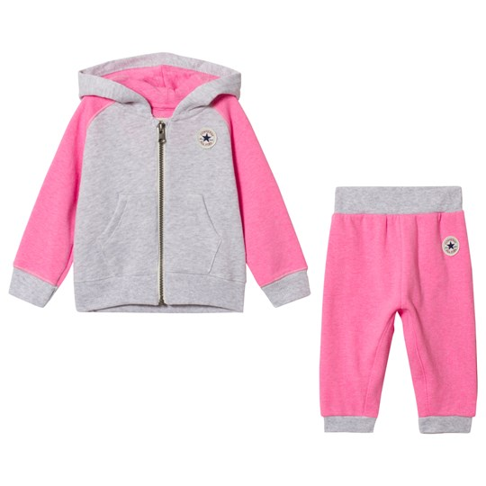 Converse Pink and Grey Tracksuit NEO PINK WITH LUNAR ROCK