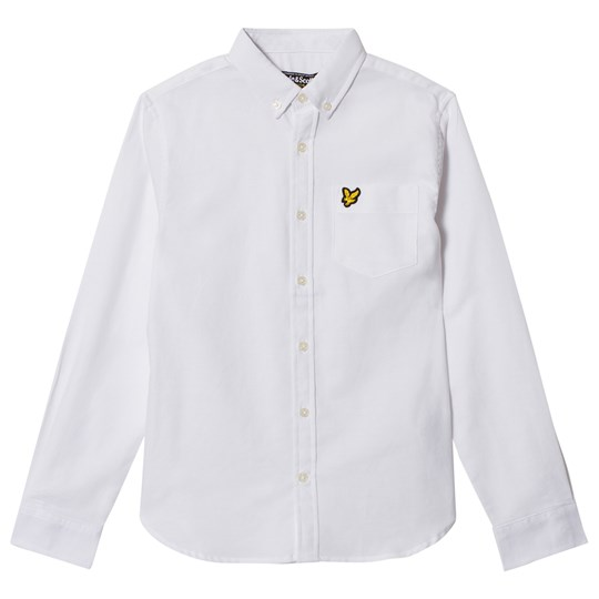 Lyle & Scott White Logo Oxford Shirt Bright White