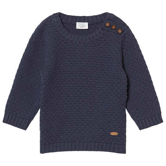 Hust&Claire Knitted Pullover Blue Blues