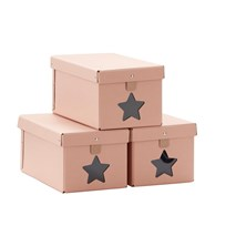 Kids Concept Shoe boxes new pink 3-set Pink