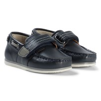 Mayoral Navy Leather Velcro Boat Shoes 64