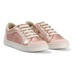 Mayoral Glitter Zip and Lace Sneakers Copper