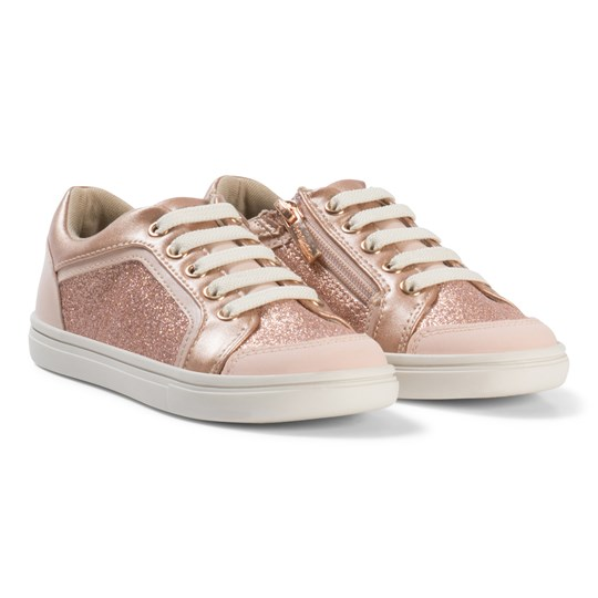 Mayoral Glitter Zip and Lace Sneakers Copper 41