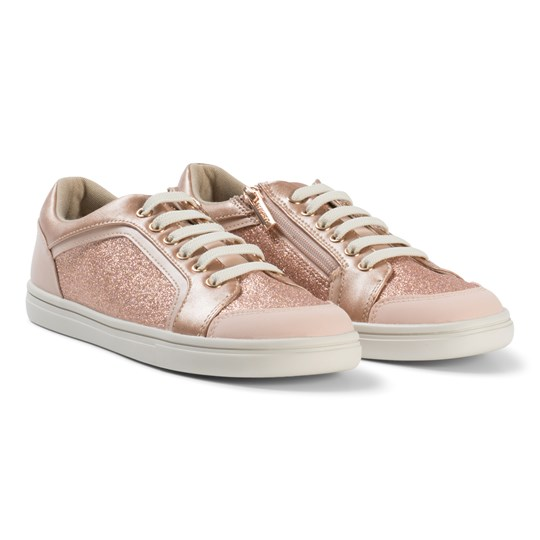 Mayoral Copper Glitter Zip and Lace Trainers 41