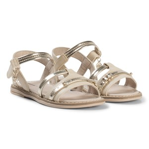 Image of Mayoral Beige and Gold Patent Sandals 26 (UK 8.5) (2939926015)