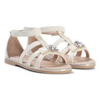Mayoral Cream Bow and Jewel Sandals 24