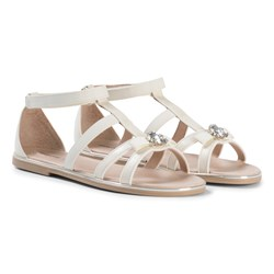 Mayoral Cream Bow and Jewel Sandals