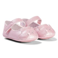 Mayoral Pale Pink Shimmer Cat Mary Jane Crib Shoes 17