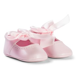 Mayoral Pink Bow Detail Crib Shoes
