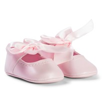 Mayoral Pink Bow Detail Crib Shoes 90