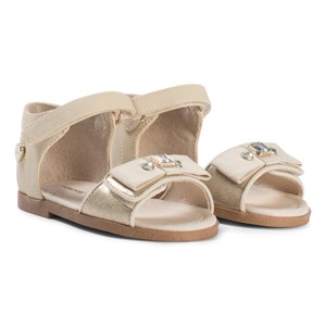 Image of Mayoral Gold Bow and Jewel Sandals 24 (UK 7) (2939926381)