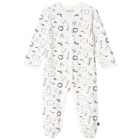Minymo Animal AOP Pyjamas Vit White