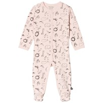 Minymo Animal AOP Pyjamas Rosa Pink