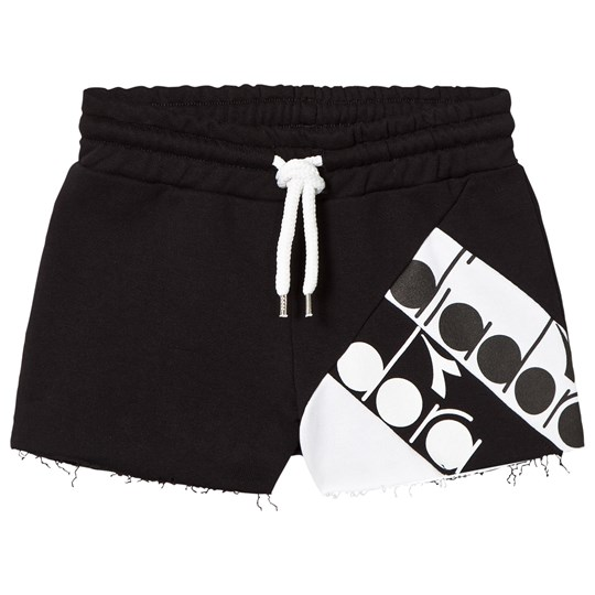 Diadora Black Branded Sweat Shorts 110