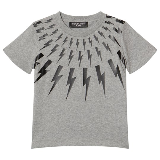 Neil Barrett Grey Lightning Bolts Print Tee 101