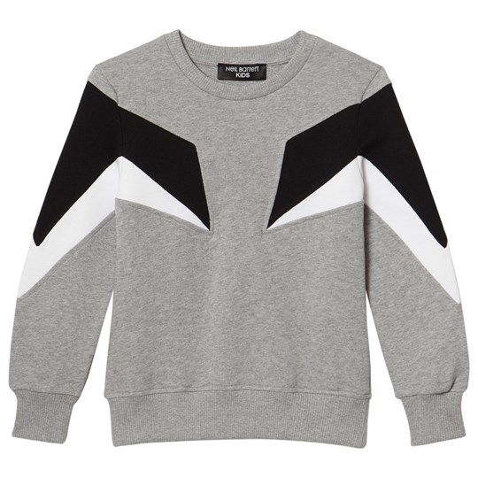 Neil Barrett Grey Colourblock Sweater 101