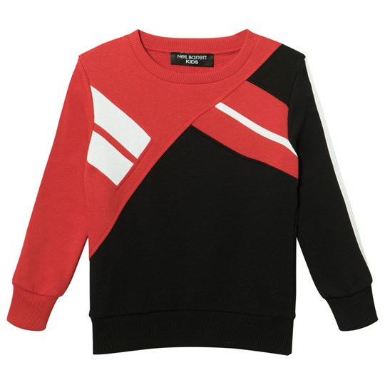 Neil Barrett Black and Red Colourblock Sweater 040/15