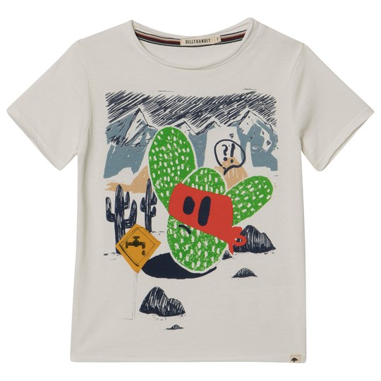 Billybandit White Cactus Graphic Tee 190-RIZ